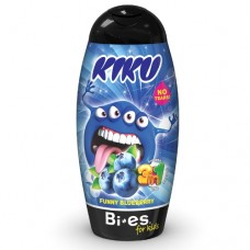 Kiku Funny Blueberry 3 в 1 (Гель для душа, шампунь, піна для ванни) 250 мл