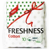 Freshness прокладки Cotton Light 3к. (10шт.)