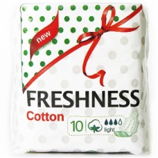 Freshness прокладки Cotton Light 3к. (10шт.)