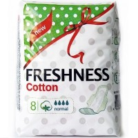 Freshness прокладки Cotton Normal 4к. (8шт.)