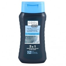 Cool Men Гель-шампунь 3в1 Ultrasensitive 250мл