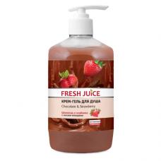 Fresh Juice гель для душу Дозатор Chocolate & Strawberry 750мл