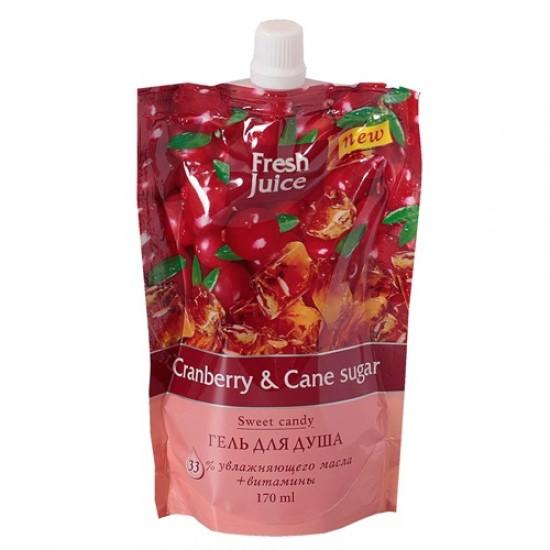 Fresh Juice гель для душу дой-пак Cranberry & Cane sugar 170мл