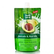Fresh Juice гель для душу дой-пак Avocado & Rice milk 170мл