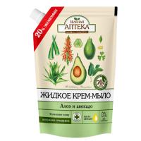 Зелена аптека рідке крем-мило дой-пак Алое і Авокадо 460мл