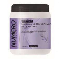 Маска для волосся розгладжуюча з маслом авокадо Brelil Numero Smoothing Mask 1л