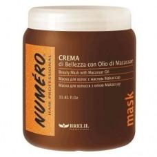 Маска для волосся зміцнююча з маслом Макассар і кератином Hair Beauty Macassar Oil Mask 1л