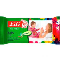Lili вологі серветки Дитячі з алое 100шт.