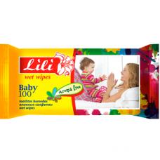 Lili вологі серветки Дитячі з екстрактом календули і вітаміном Е 100шт.