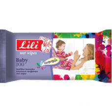 Lili вологі серветки Дитячі з екстрактом ромашки 100шт.