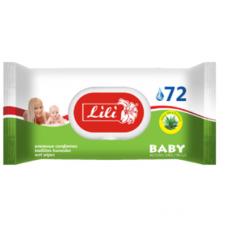 Lili вологі серветки Дитячі з алое 72 шт.