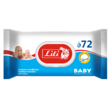 Lili вологі серветки Дитячі з екстрактом календули і вітаміном Е 72шт.