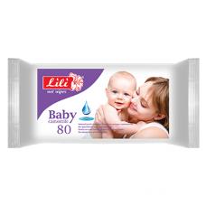 Lili вологі серветки Дитячі з екстрактом ромашки 80шт.