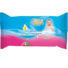 Baby Boom вологі серветки 72шт. льон