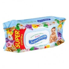 Superfresh Baby вологі серветки клапан 120шт.