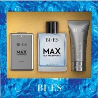 Bi Es Max Ice Freshness (Т/в 100ml + парфуми 15ml + гель д/д 50ml) Набір для чоловіків