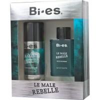 Bi Es Le Male Rebelle (Т/в 100ml + дезодорант-спрей 150мл) Набір для чоловіків
