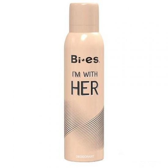 Bi Es I'm With Her Дезодорант-спрей для жінок (150 мл)